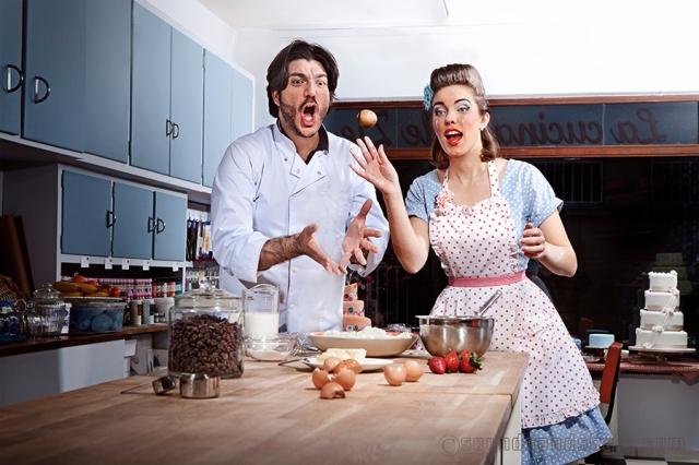 """Antonio Santangelo Della Cucina Delle Zie & Pia Salvia """"eggs throwing!"""""""