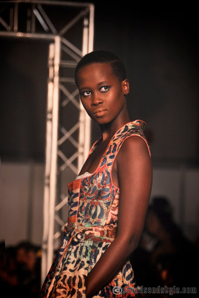 """Anoutchka, the new face """"coup de coeur """" at Ethno fashion weekend models' contest NOH NEE collection"""