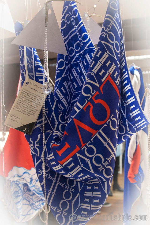 Designs are Destiny, power scarves by Isabelle Roche