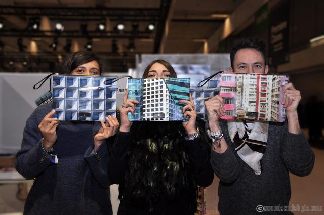 Passerin-nonpareil, derrière les sacs 3 designers: Adrian Cruz Chavez, Carolina Jimenez Andrioli and Francesca Neri